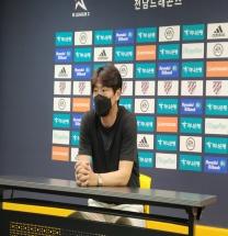 """충남아산 박동혁 감독, """"우리 팀은 더 올라갈 수 있고 잘하는 팀이다"""""""